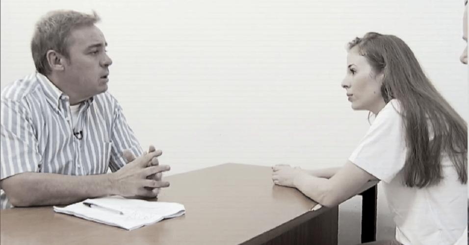 Fev.2015 - Gugu estreia novo programa com entrevista com Suzane Von Richthofen, 12 anos após sua prisão por participação na morte dos pais em São Paulo