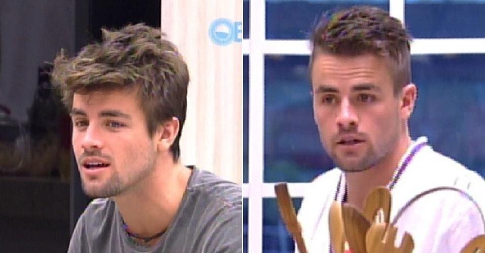 "Montagem, Rafael corta o cabelo no ""BBB15"""