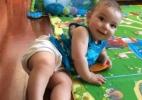 Brincadeiras no tapetinho ajudam o bebê a desenvolver equilíbrio, coordenação e postura - Arquivo pessoal