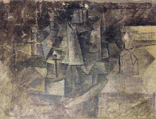 """Obra """"La Coiffeuse"""", pintada por Picasso em 1911 e recuperada nos Estados Unidos - Reprodução"""