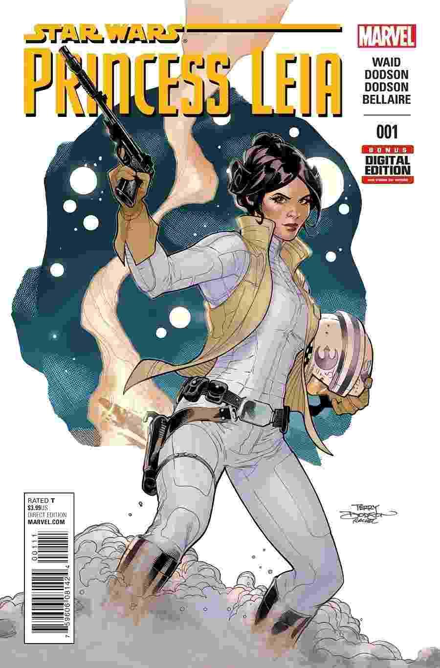 27.fev.2015 - Capa da primeira edição da HQ da Princesa Leia divulgada pela Marvel na madrugada desta sexta-feira - Reprodução