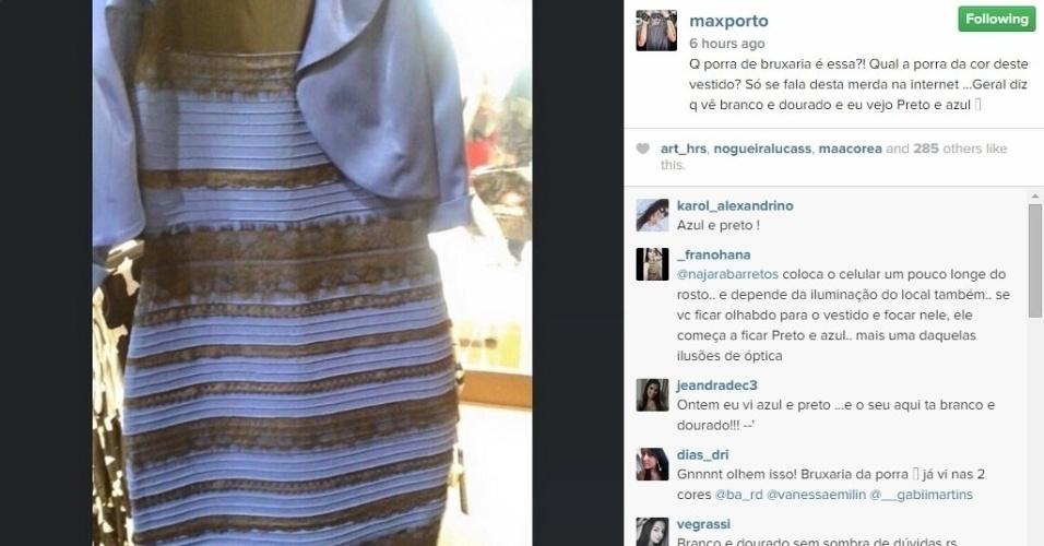27.fev.2015 - O ex-BBB Max Porto vê azul e preto. Você vê diferente? Para ele é bruxaria