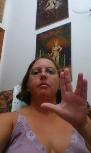 """Mônica Luçan de Oliveira, 50, de São José dos Campos (SP) lamenta a perda: """"Saudades..."""""""