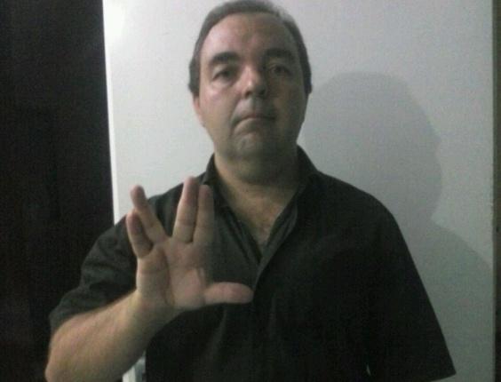 """""""Sou fã de Jornada nas Estrelas e, com muita lógica, do Sr. Spock! Vida longa e próspera"""", diz José Marcos Ruga Caslini, de São João da Boa Vista (SP)"""