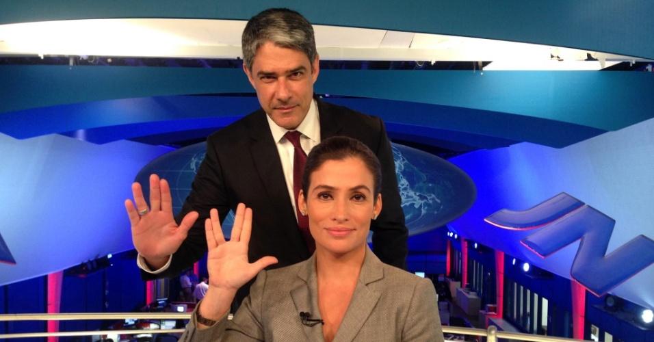 """William Bonner e Renata Vasconcellos homenageiam o Sr. Spock no """"Jornal Nacional"""""""