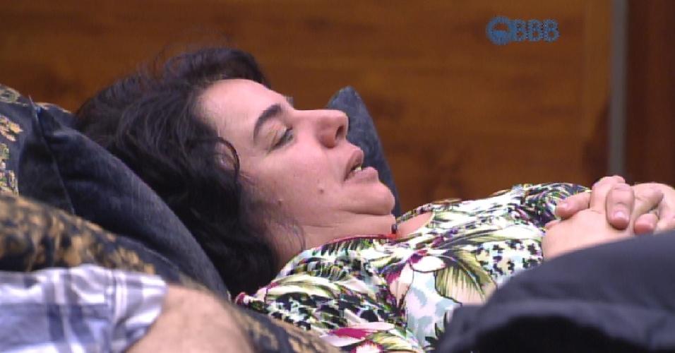 28.fev.2015 - Em conversa com Adrilles, Mariza diz acreditar que as meninas têm medo de Talita.