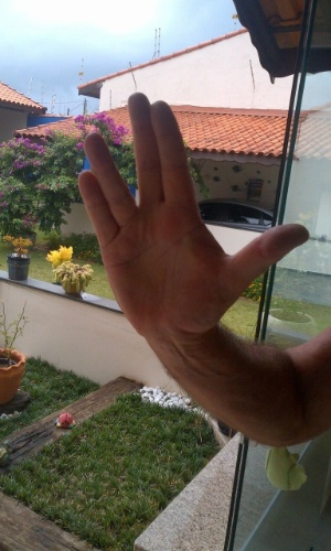 """""""Faço aqui uma homenagem para o meu genro Erik Lorne, que há muito tempo é um fã-trekker e admirador do Mr. Spock. So sorry, Erik Lorne!"""" diz João Carlos Zen, de Peruíbe (SP)"""