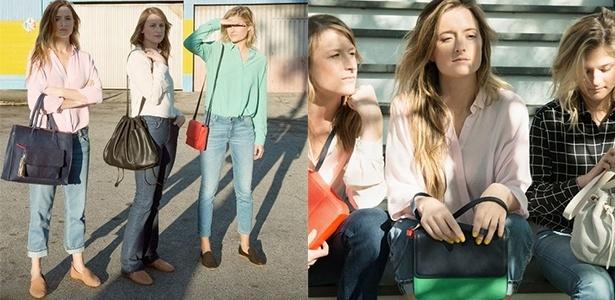 Na foto da direita: Mamie, Grace e Louisa Gummer, da esquerda para direita - Divulgação/& Other Stories