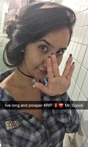 """#RIP Nimoy"" diz Suane Oliveira Rangel, de Uberlândia (MG)."