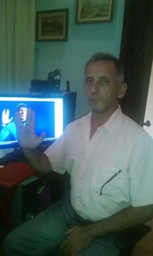 """""""Saudações, e fique em paz."""" diz José Marcos da Silva, de São Paulo (SP)"""