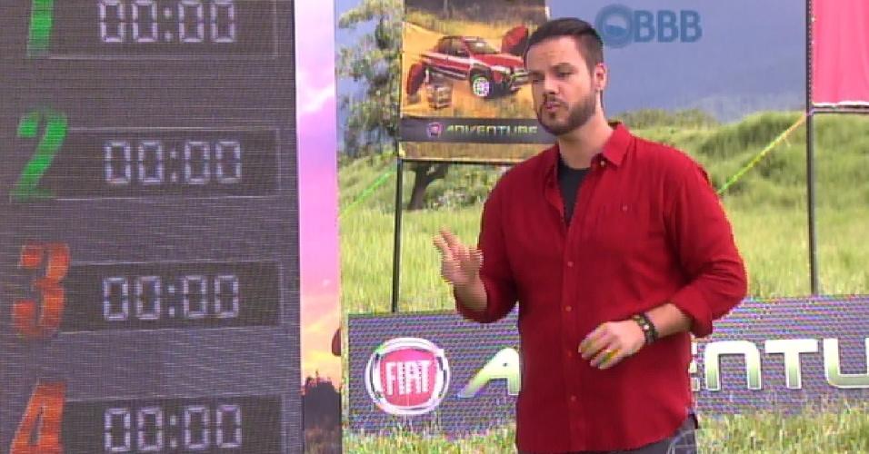 1.mar.2015 - No programa ao vivo deste domingo, a edição do programa mostra como foi a prova da comida
