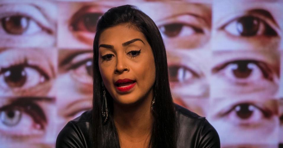 """1.mar.2015 - Amanda vota em Cézar no sexto paredão do """"BBB15"""""""