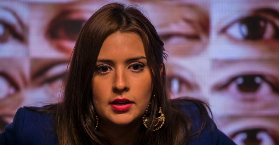 """1.mar.2015 - Tamires vota em Cézar no sexto paredão do """"BBB15"""""""