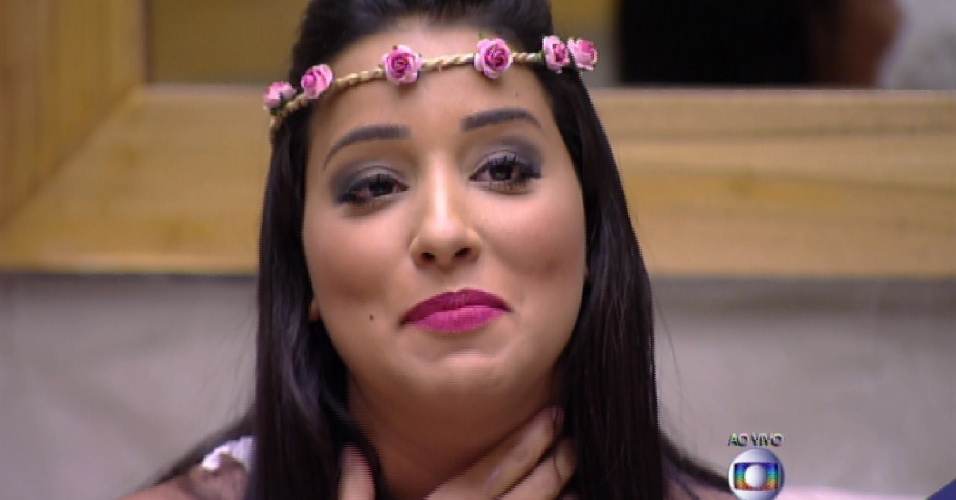 "3.mar.2015 - Talita fala com Bial no sexto paredão do ""BBB15"""