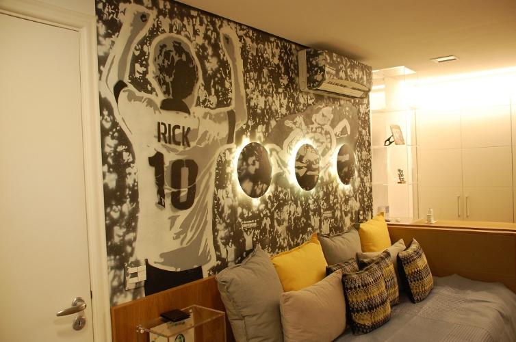 63c9c56d59 Parede grafitada dá personalidade ao quarto de crianças e de ...