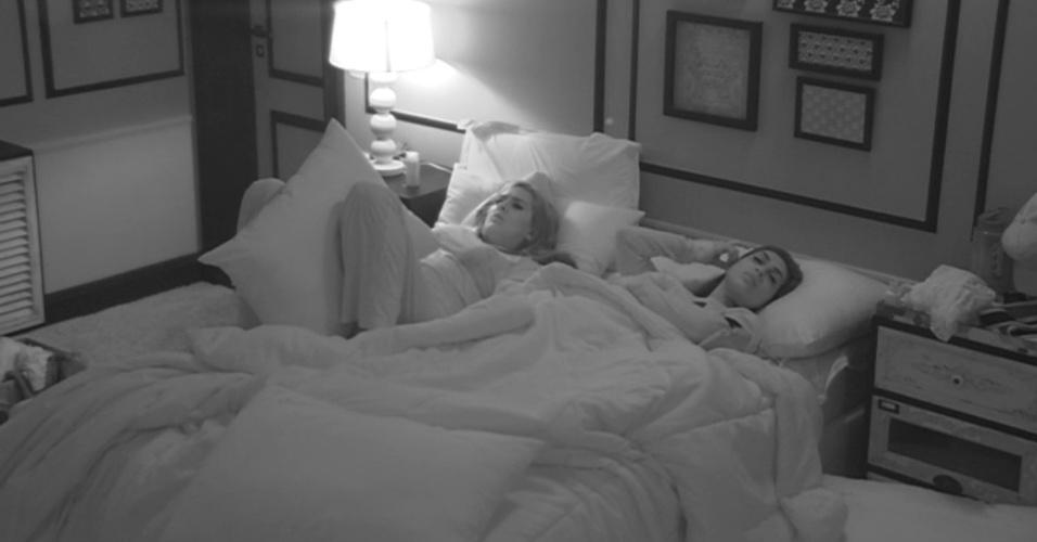 5.mar.2015 - Apesar de Adrilles se declarar muito apaixonado por Tamires, a sister não vê o colega de confinamento com os mesmos olhos.