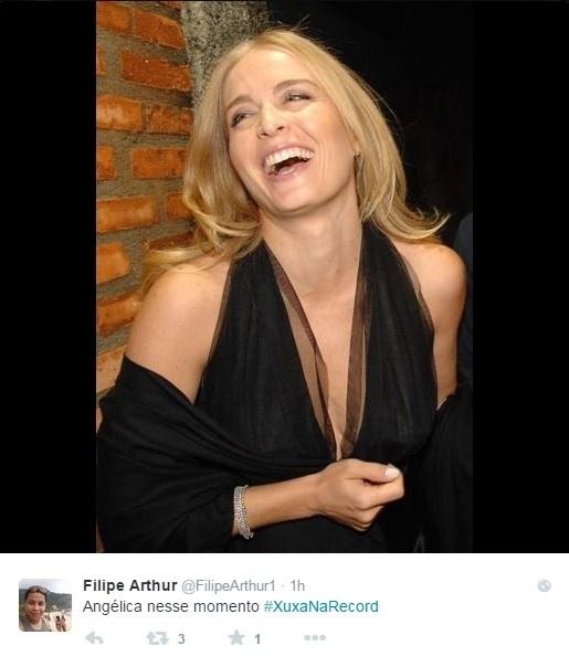 5.mar.2015 - Internauta faz referência à eterna rivalidade atribuída entre Xuxa e Angélica