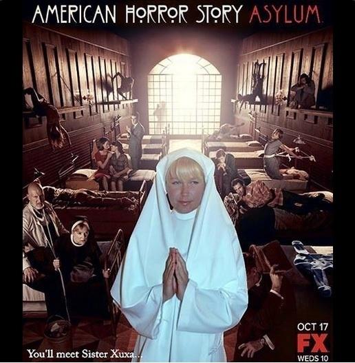 "5.mar.2015 - Internauta faz referência à série ""American Horror Story"""