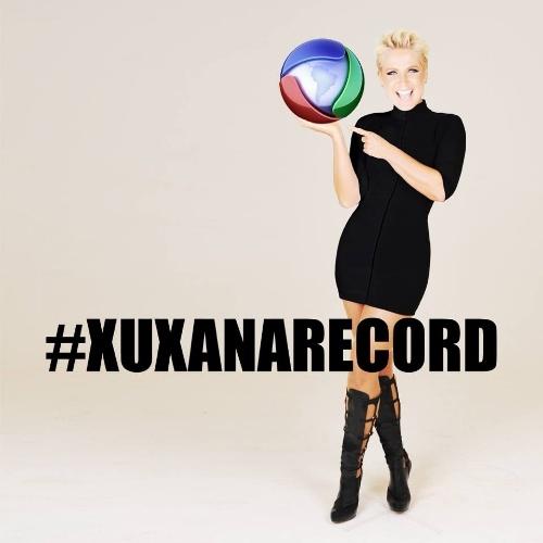 5.mar.2015 - Xuxa troca foto de perfil no Facebook e posta imagem com o logo da Record e a hashtag #xuxanarecord