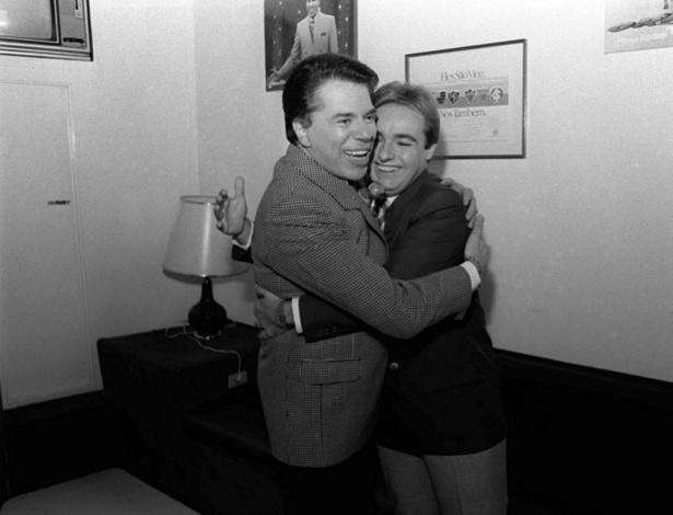 Silvio Santos e Gugu Liberato, em 2001