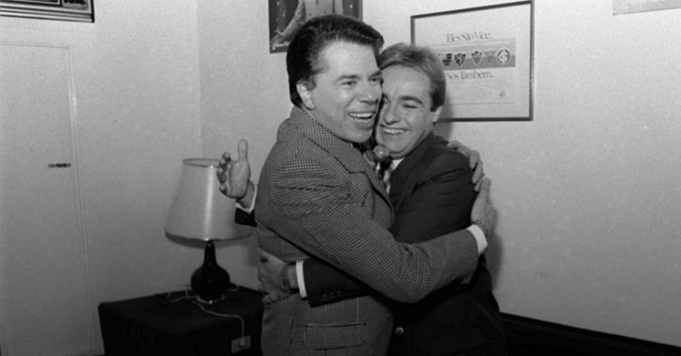 Silvio Santos e Gugu Liberato em 2001