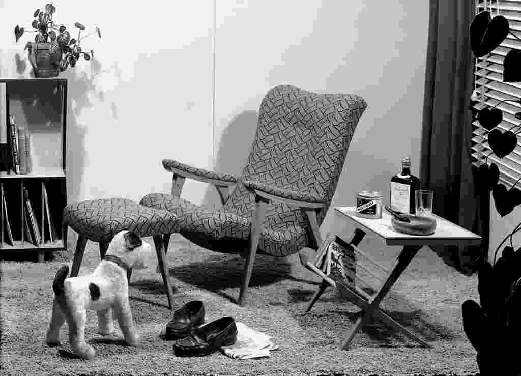 Foto publicitária dos Móveis Artísticos Z, na década de 1950 - Divulgação