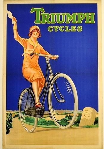 Propaganda de bicicleta da Triumph
