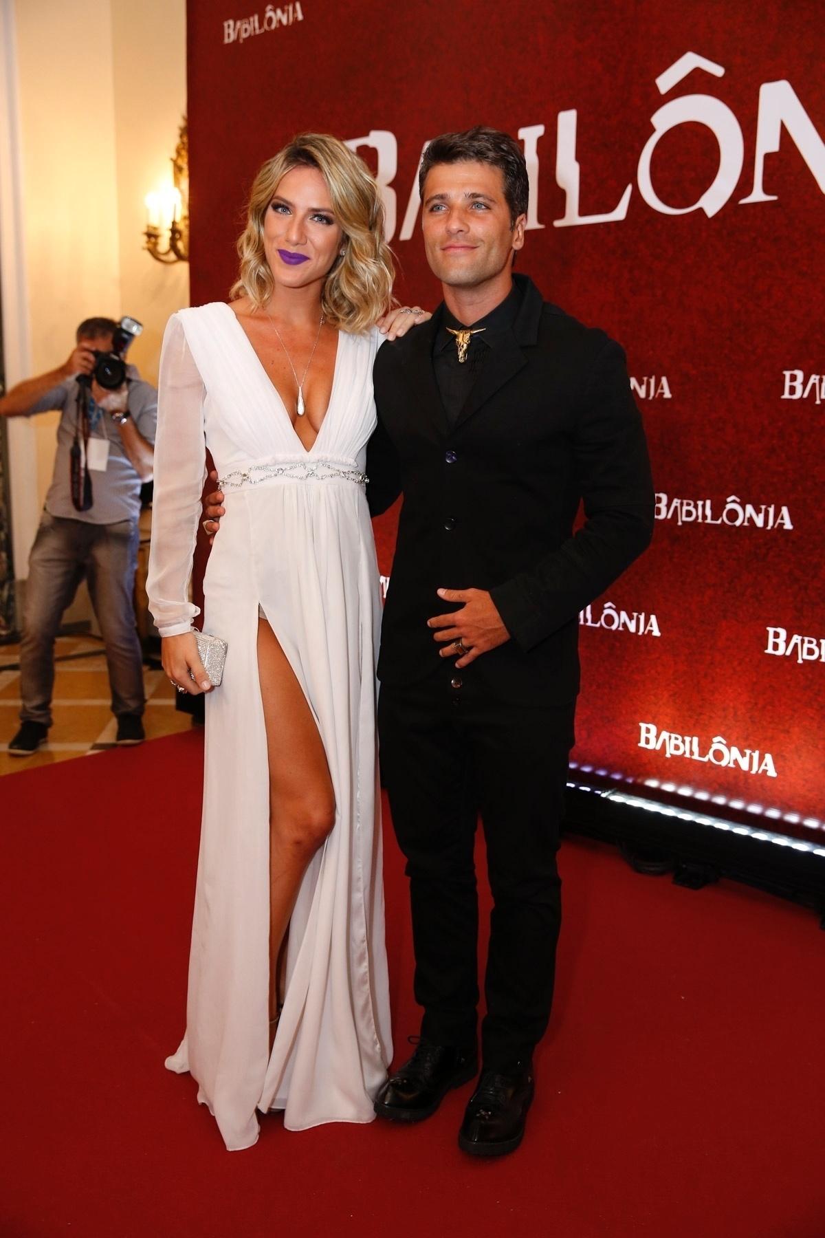 7.mar.2015 - Giovanna Ewbank e o marido Bruno Gagliasso, que vai interpretar o cafetão Murilo em