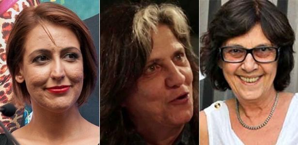 As produtoras Mayra Lucas, Sara Silveira e Mariza Leão - Fabio Guinalz/Fotoarena e Divulgação