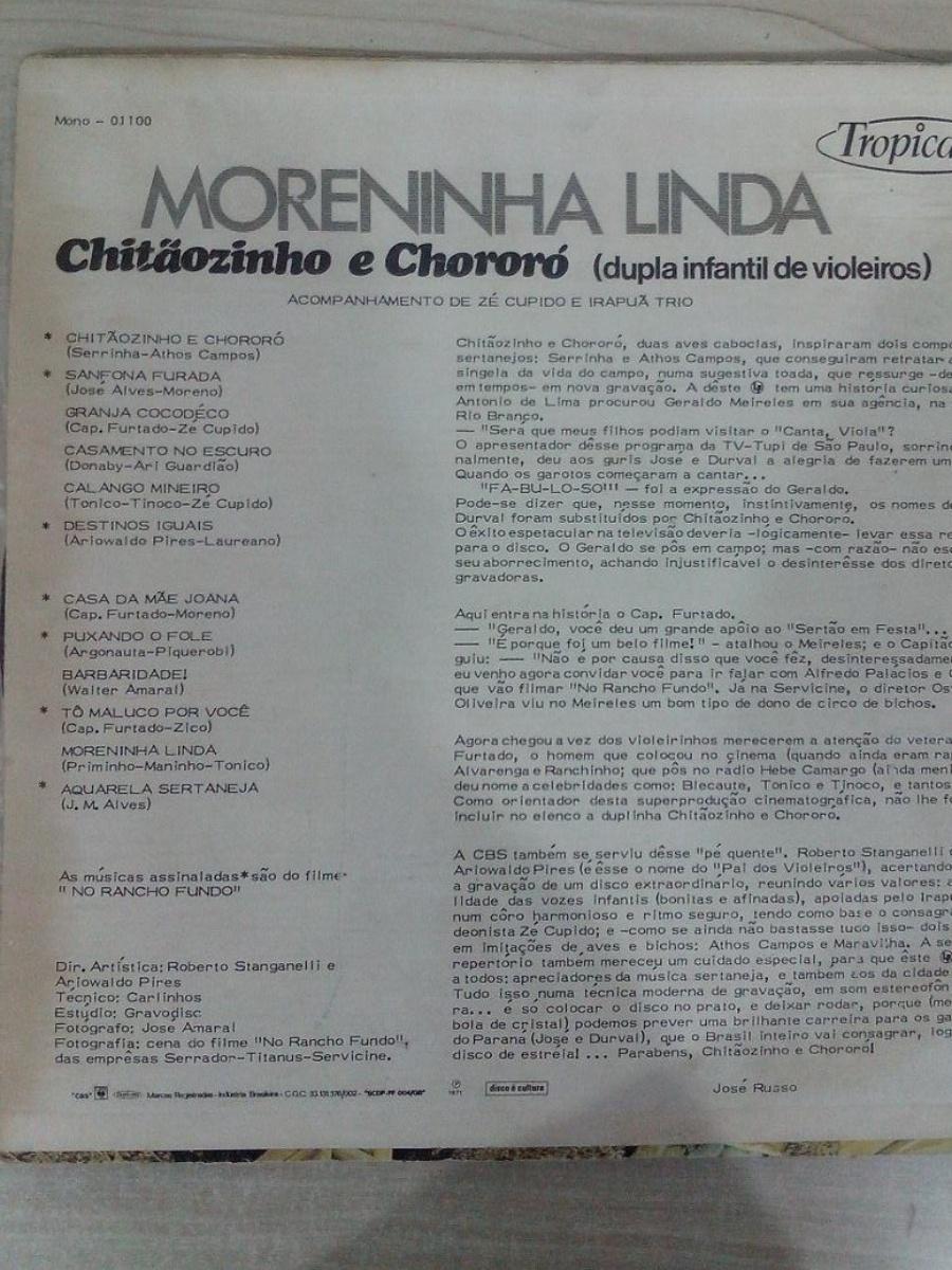 9.mar.2015 - Xororó teve seu nome grafado com Ch no disco