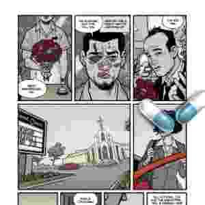 "10.mar.2015 - Página da HQ ""Clube da Luta 2"", de Chuck Palahniuk e Cameron Stewart. - Divulgação/Dark Horse Comics"