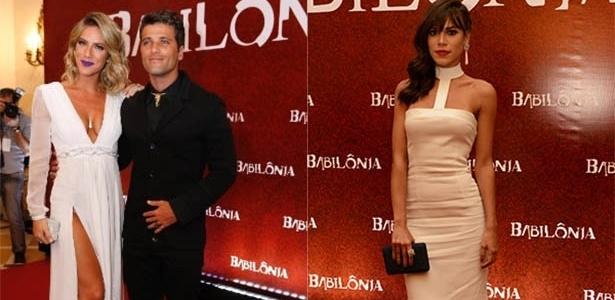 "Giovanna Ewbank, Bruno Gagliasso e Carla Salle na festa de ""Babilônia"", no Rio"