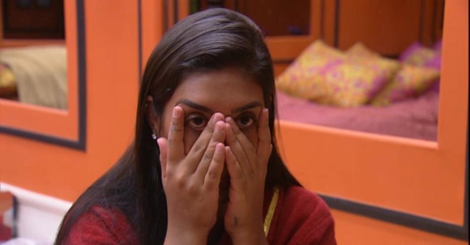 11.mar.2015 - Amanda e Rafael conversam sobre relacionamento da sister com Fernando