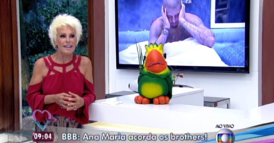 """11.mar.2015 - Ana Maria Braga manda acionar o alarme  da casa do """"BBB15"""" durante o programa  """"Mais Você"""""""