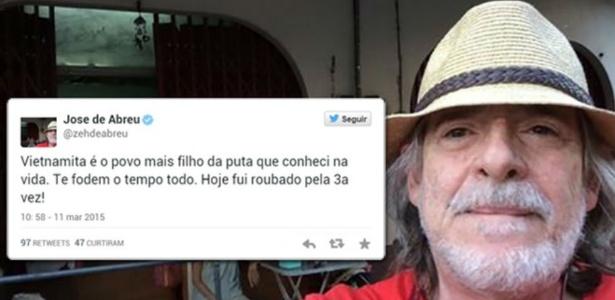 """José de Abreu é assaltado no Vietnã e diz que país é a """"São Paulo asiática"""""""