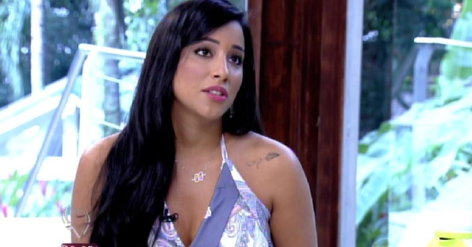 """11.mar.2015 - Talita fala sobre Rafael no programa """"Mais Você"""""""