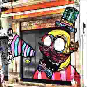 Obra do aritista Rafo Castro, mapeada pelo #streetartrio - Reprodução/Instagram