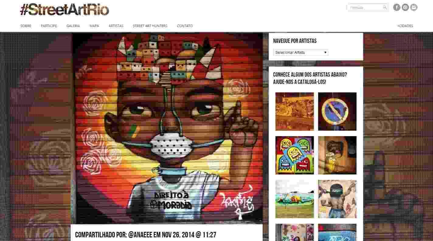 Obra do artista ACME, em Ipanema, mapeada pelo movimento #streetartrio - Reprodução/Instagram