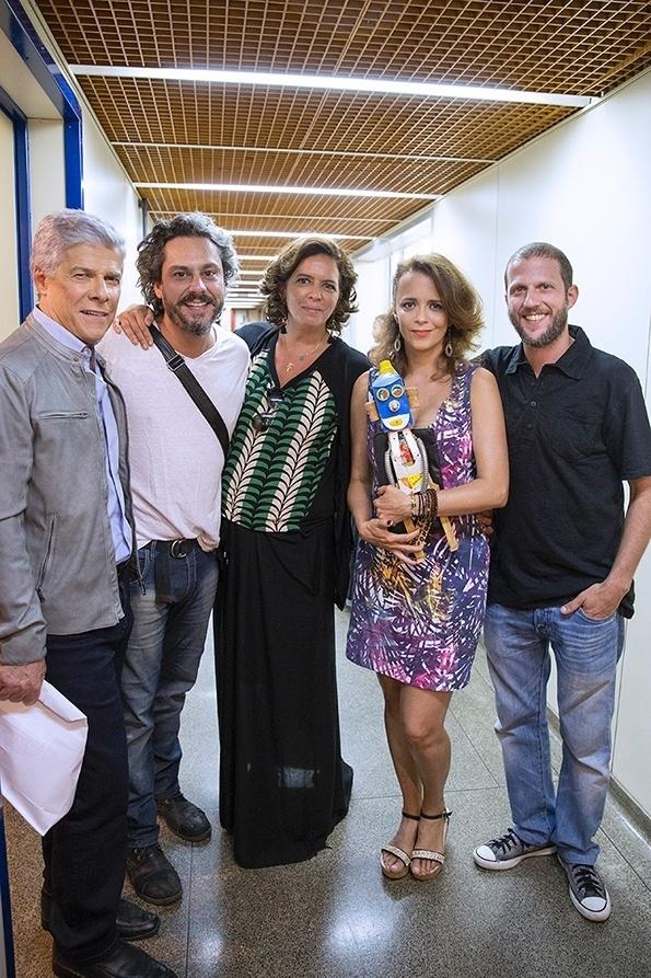 """13.mar.2015 - Aguinaldo Silva compartilha imagens da gravação do encerramento de """"Império"""""""