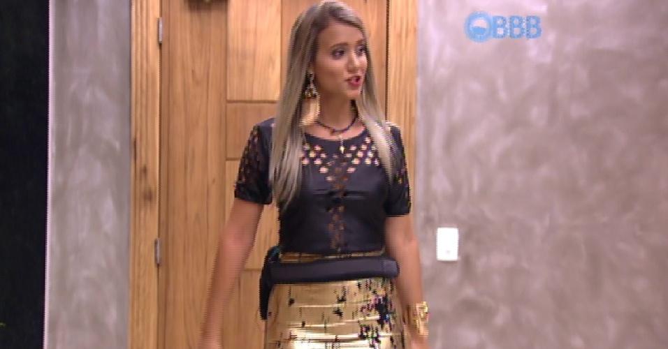 "13.mar.2015 - Nova participante Andressa entra no ""BBB15"""