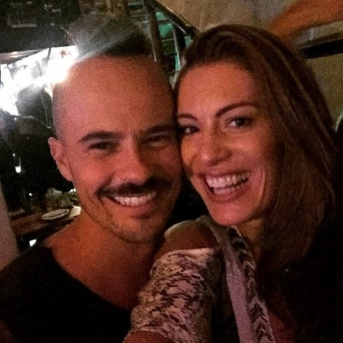 13.mar.2015- Paulo Vilhena e Elaine Mickely: