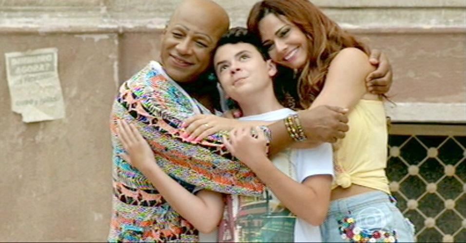 Xana, Nana e o filho Luciano: final feliz para a família