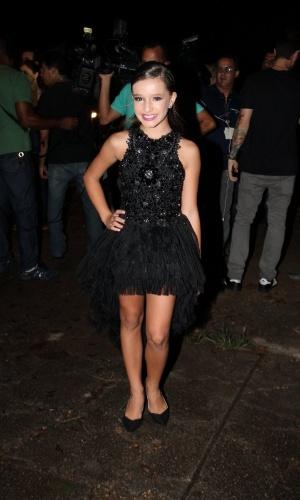 13.mar.2015 - Kiria Malheiros chega para a festa do último capítulo de