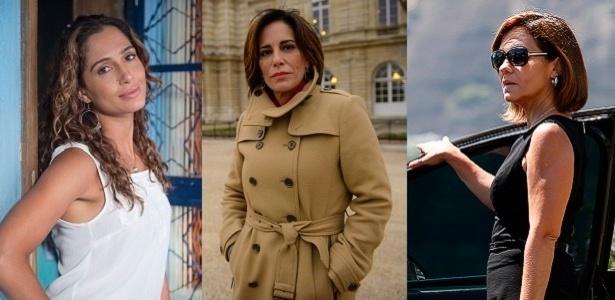 """Regina (Camila Pitanga), Beatriz (Gloria Pires) e Inês (Adriana Esteves) são as protagonistas de """"Babilônia"""""""
