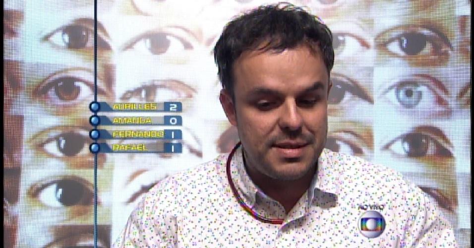 15.mar.2015 - Adrilles é o anjo e vota em Rafael