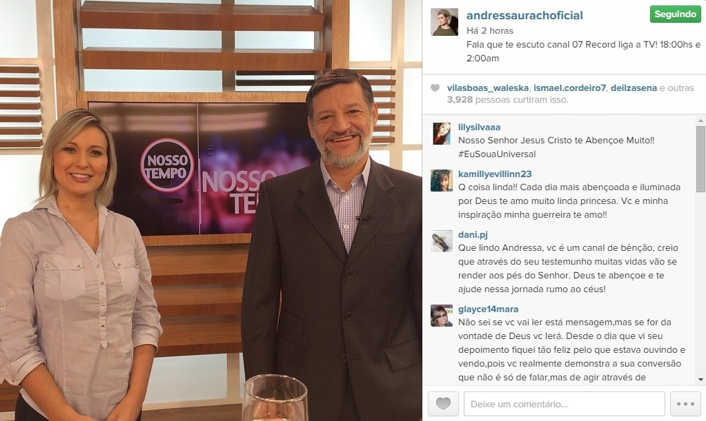 16.mar.2016 - Andressa Urach participa do