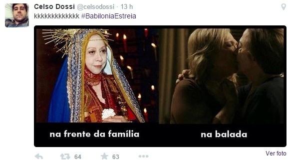 """17.mar.2015 - Memes com o o primeiro capítulo de """"Babilônia"""""""