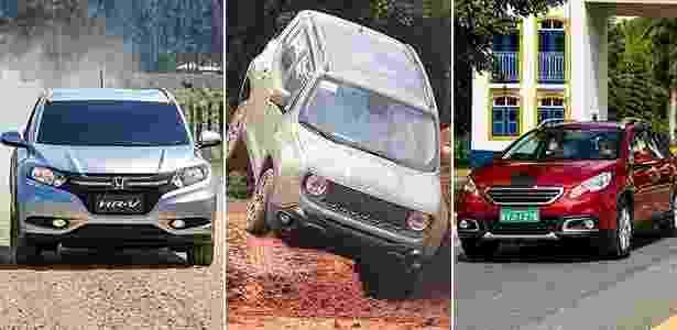 HR-V, Renegade e 2008 querem roubar clientes de EcoSport e Duster - Arte UOL Carros