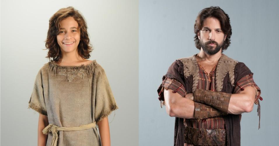 NADABE (Higor Castro/Marco Antonio Gimenez): Escravo do faraó, executa trabalhos pesados ao lado do pai