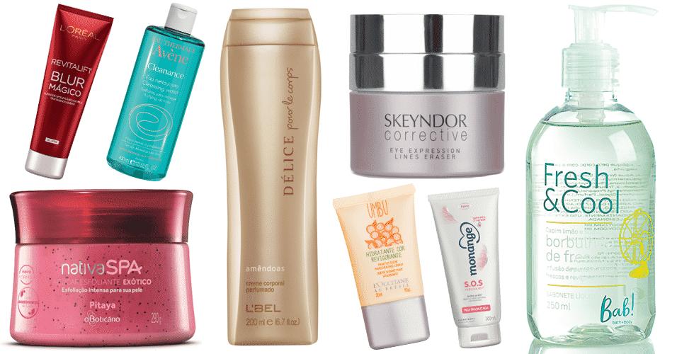 Produtos para pele - março de 2015 - Divulgação
